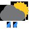 Ciel nuageux avec pluies faibles